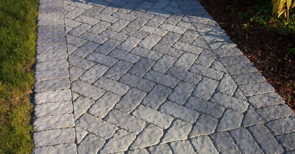 Unlock Cassova pavers used in a path