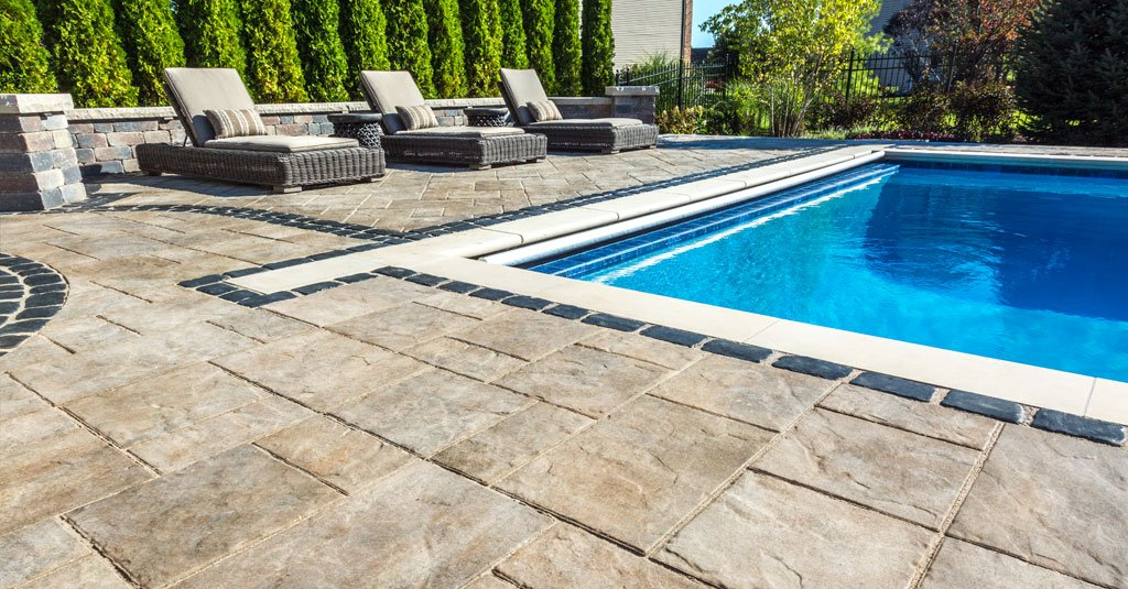 Pool Patio Done in Beacon Hill Flagstone