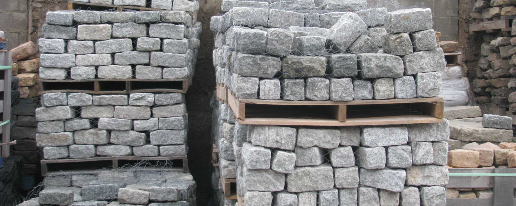 Pallets of Belgian Blocks