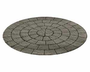 Cambridge Ledgestone pavers in their circular pattern