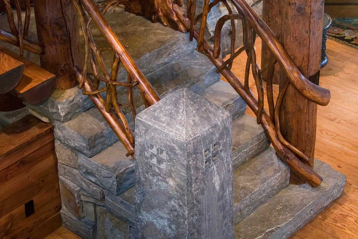 Granite stone used for interior stairs