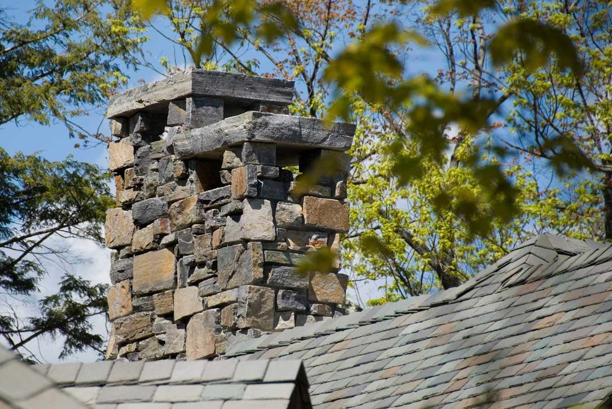 Granite stone chimney