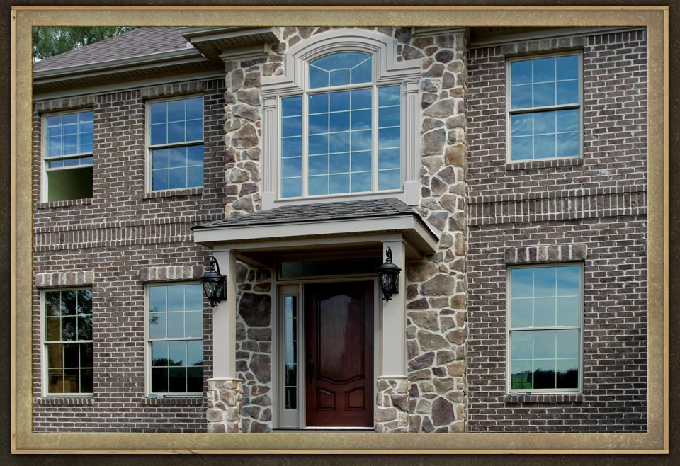 Manufactured veneers brick wall home exteriors