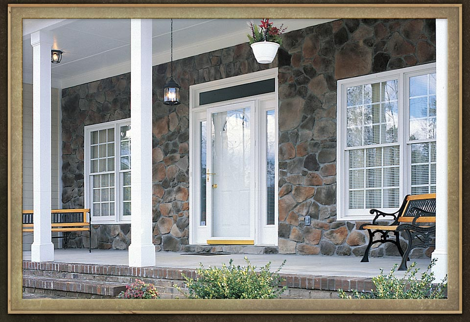Manufactured veneers brick wall home porch exterior wall