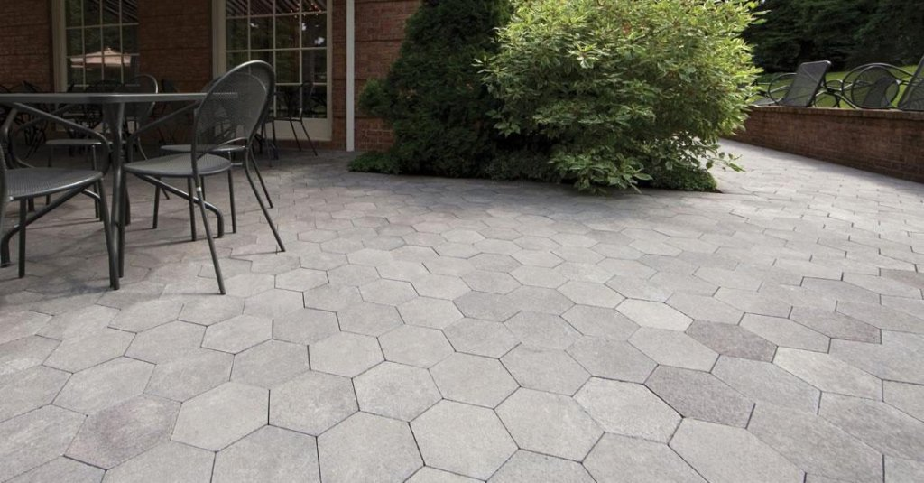 Unilock City Park Octagon Shaped Pavers Used For Patio